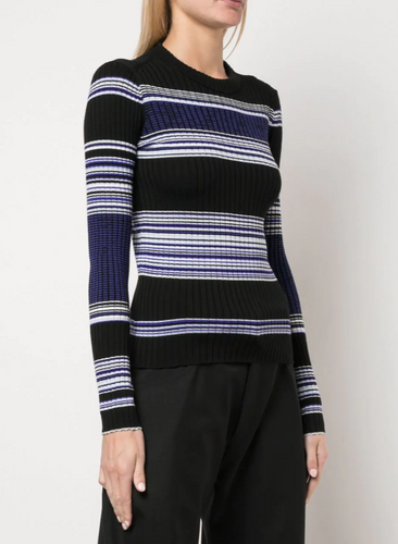 PROENZA SCHOULER - Striped Rib Crewneck Top