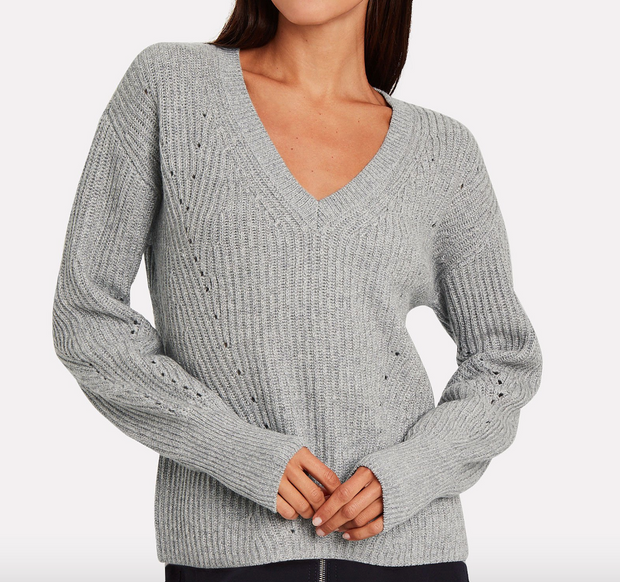 V-neck Metallic Knit