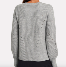 DEREK LAM 10 CROSBY - V-neck Metallic Knit
