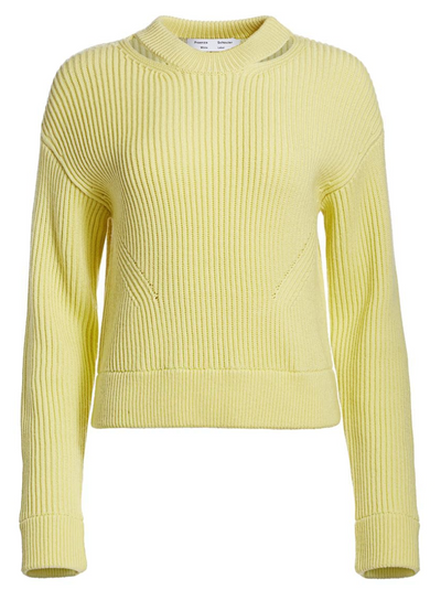 Lemon Ribbed Pullover