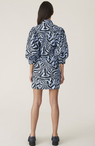 GANNI - Printed Cotton Shirtdress