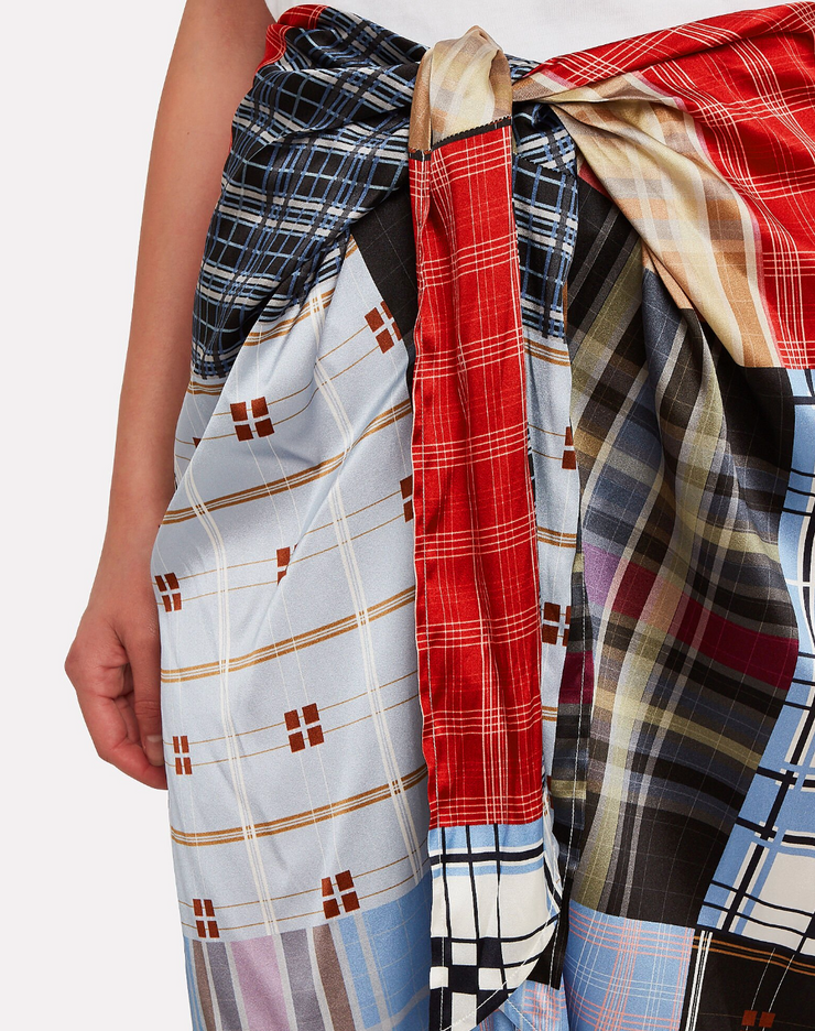 Patchwork Silk Skirt