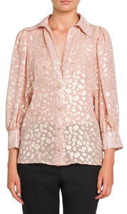 STELLA MCCARTNEY - 3/4 Sleeve Shiny Blouse