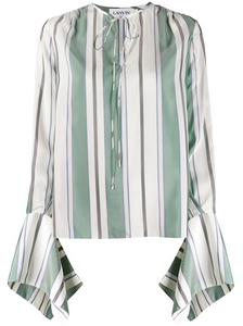 LANVIN - Striped Elongated Sleeve Top