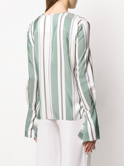 Striped Elongated Sleeve Top