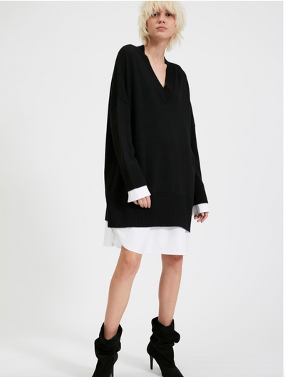 BARBARA BUI - V-Neck Sweater Dress