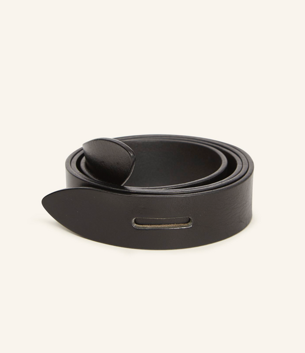 Lecce Overlap Leather Belt