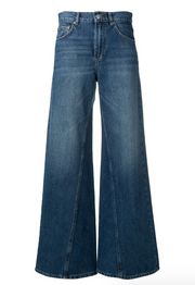Classic Denim Wide Pants Medium Dark Denim
