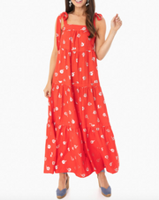 WARM -  Red Polka Dot Dress
