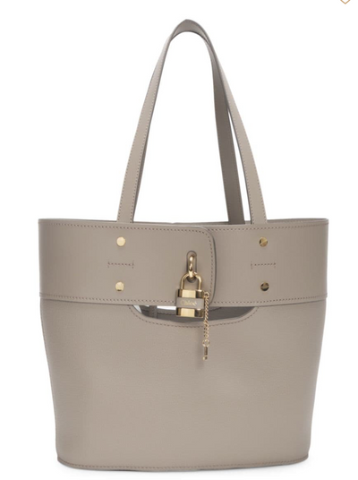 CHLOÉ - Small Aby Tote Motty Grey