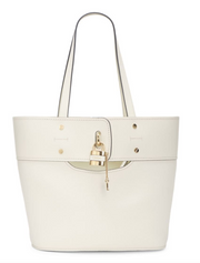 CHLOÉ - Small Aby Tote Natural White