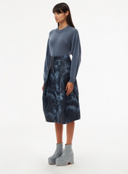 TIBI - Rubberized Tye Die Skirt