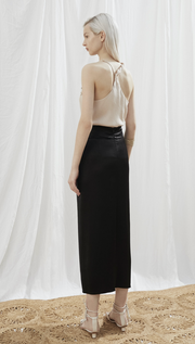 Samara Washed Satin Skirt