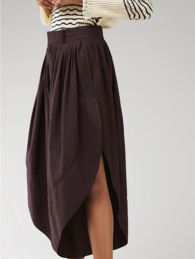 Pleated Plum Culotte