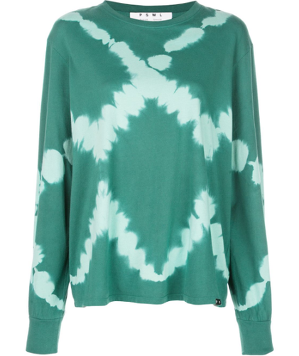 PROENZA SCHOULER - PSWL Diamond Tie Dye Long Sleeve T-Shirt