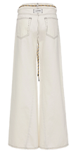 GANNI - White Wide Leg Denim