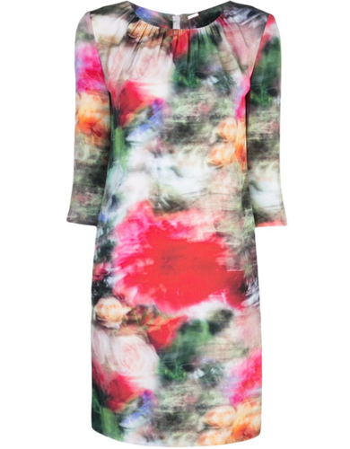 ADAM LIPPES - Floral Print Fitted Dress