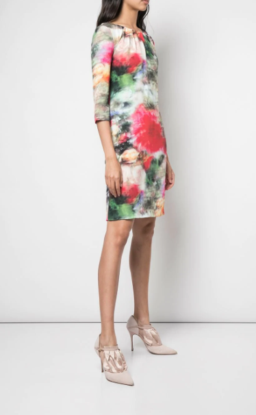 Floral Print Fitted Dress