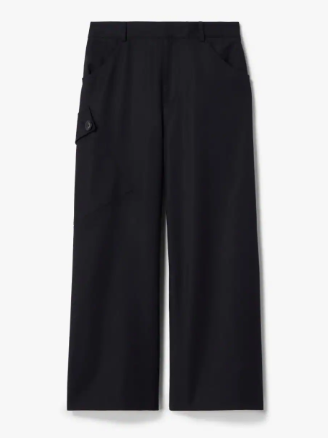 Cotton Sateen Culotte With Utility Pocket
