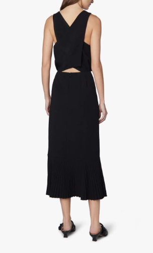 Sleeveless Dress Pleated Hem