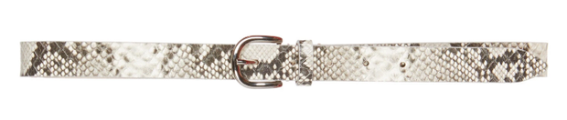 Zap Snake-Effect Leather Belt