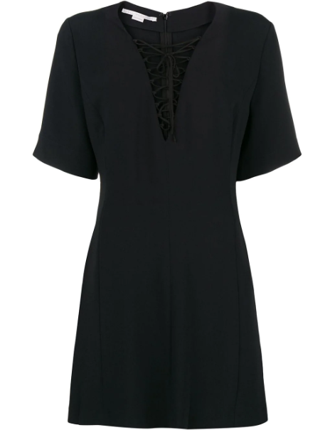 STELLA MCCARTNEY - Lace-up Mini Dress