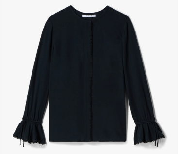 DEREK LAM 10 CROSBY - Long Sleeve Button-Down Blouse With Bell Sleeves
