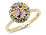 ERINESS - Multi-Colored Disco Ball Ring