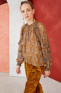 ULLA JOHNSON - Calista Blouse Ochre