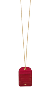 CHLOE - Walden Chain Card Holder Dusky Red