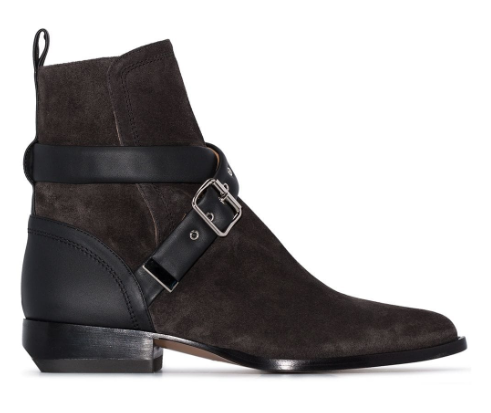 CHLOE - Rylee Buckle-Strap Ankle Boots