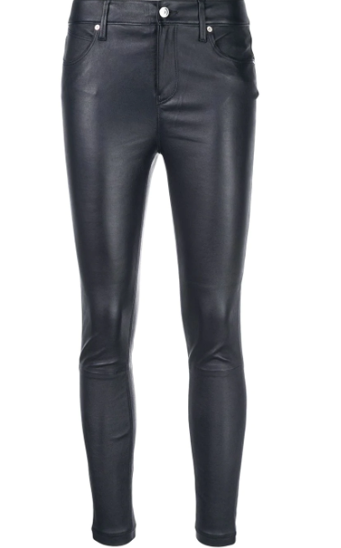 RTA - Navy Madrid Leather Pants