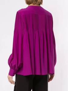 CHLOE - Silk Pleated Blouse
