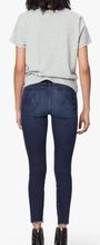 MOTHER - High-Waisted Looker Ankle Fray Dark Wash