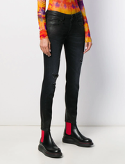 R13 - Low-Rise Coated Skinny Jeans