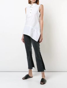 DEREK LAM 10 CROSBY - Sleeveless Asymmetrical Top