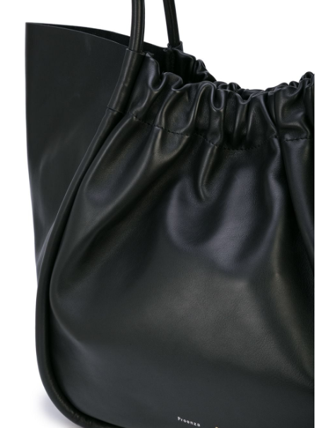 XL Ruched Black Tote
