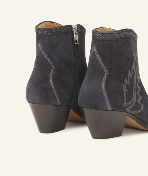 ISABEL MARANT - Black Dacken Booties