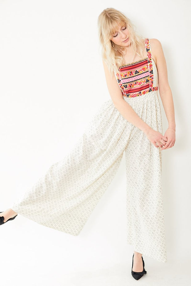 Razi Wide Leg Folk Print Jumpsuit