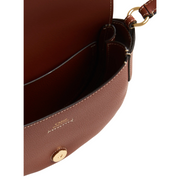 Small Darryl Saddle Bag Sepia Brown