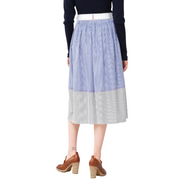 Poplin Striped Skirt
