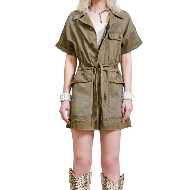 Olive Surplus Romper