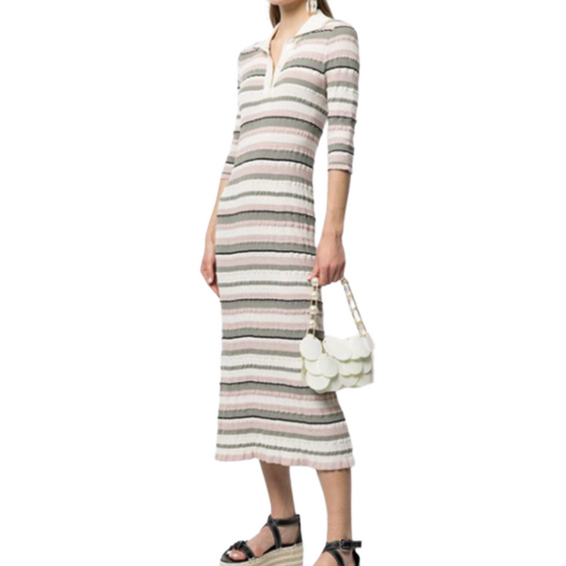 Crepe Cotton Polo Dress