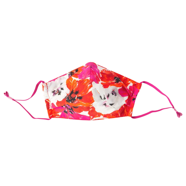 Flower Mask in Orange/Pink