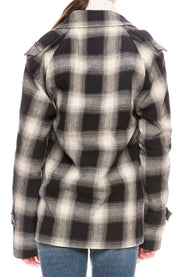 Nikki Ovrsized Plaid Coat