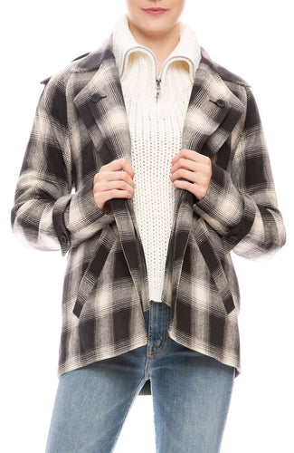 RTA - Nikki Ovrsized Plaid Coat
