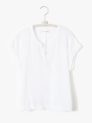 XIRENA - White/Prism Addie Top