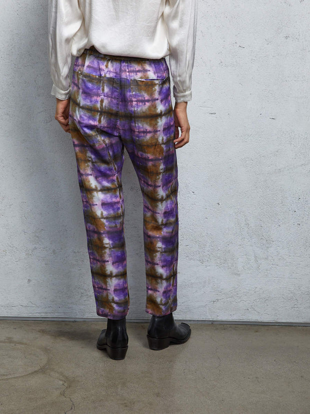 Silk Cotton Front Flat Pant