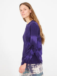RAQUEL ALLEGRA - Long Sleeve Gathered Tie Top