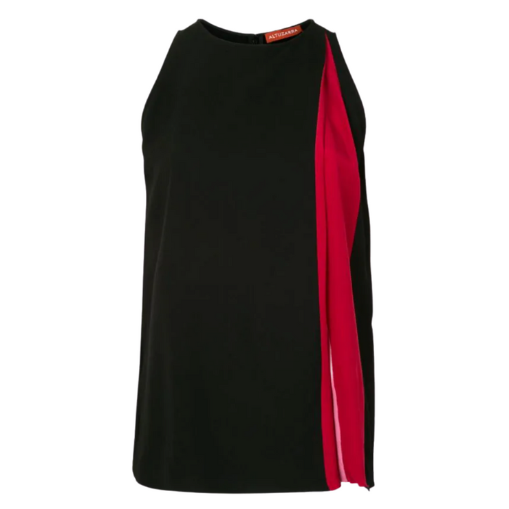 Altuzarra Black Frances Top Black, Pink and Red from Gretta Luxe